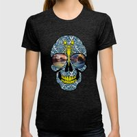 DEAD SKULL  Womens Fitted Tee Tri-Black SMALL