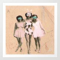 Imaginary Friends- Playmates Art Print