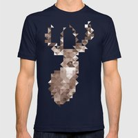 Dear Deer Mens Fitted Tee Navy SMALL
