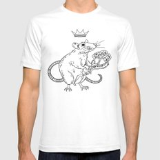 Rat King SMALL White Mens Fitted Tee