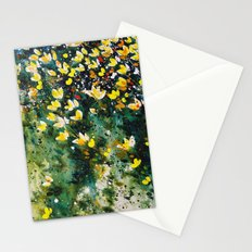 field of wildflowers Stationery Cards