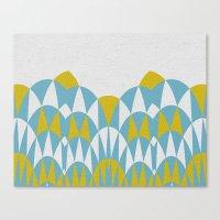 Modern Day Arches Blue A… Canvas Print