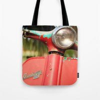 The old scooter - Bambi Tote Bag