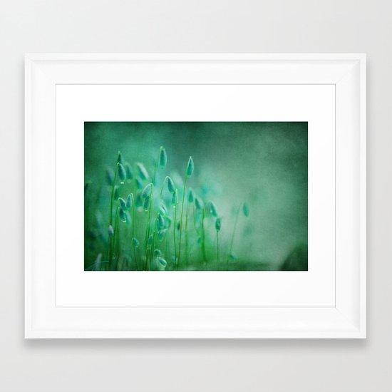 green microcosmos Framed Art Print