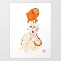 Totem: Tamarin Art Print