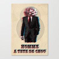 L'homme à La Tête De C… Canvas Print