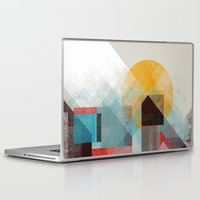 mountains Laptop & iPad Skins featuring Over mountains by Efi Tolia
