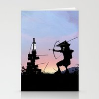 Green Arrow Kid Stationery Cards