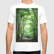 Lush White Mens Fitted Tee SMALL