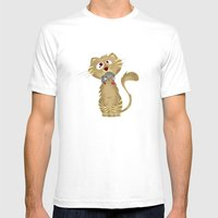 Cat Gift Mens Fitted Tee White SMALL