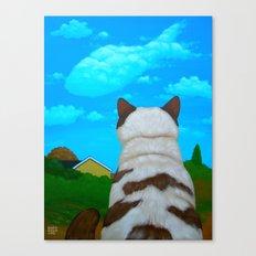 DAY DREAM, FISH CLOUD Canvas Print