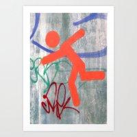 Running Man  Art Print