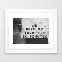 El Paso, TX Framed Art Print