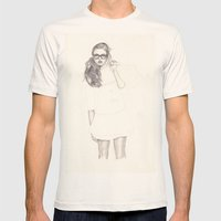No.6 Fashion Illustratio… Mens Fitted Tee Natural SMALL