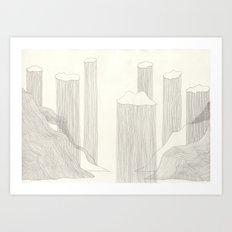 I design fjords. Art Print