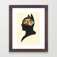Bat Phrenology Framed Art Print