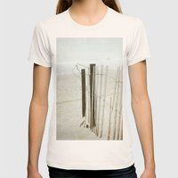 Ocean Fence Womens Fitted Tee Natural SMALL
