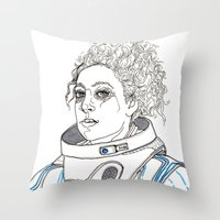 River Throw Pillow