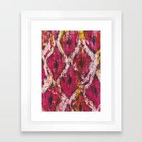 Ikat1 Framed Art Print