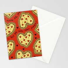 I Love You More Than Pizza on REPEAT -- AKA RE-PEATZAAA Stationery Cards