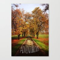 let's be adventurous Canvas Print