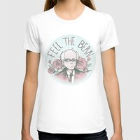 Feel The Bern Nee-san! Womens Fitted Tee White SMALL