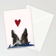 Whales in Love Stationery Cards
