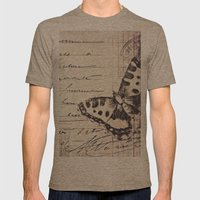postal butterfly {b&w Mens Fitted Tee Tri-Coffee SMALL