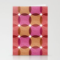 Overlapped Circle Pattern 3 Stationery Cards