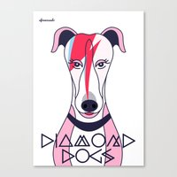 Diamonds Dogs Canvas Print