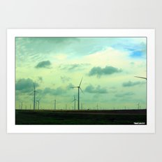 Cartwheel Giants Art Print