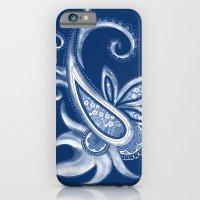 Lace Paisley: Blue Tonal… iPhone 6 Slim Case