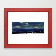 Snowy Field Framed Art Print