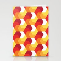 Hexagons on fire! Stationery Cards