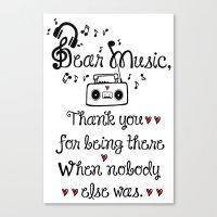 Dear music Canvas Print