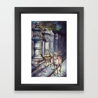 Nara Deer Framed Art Print