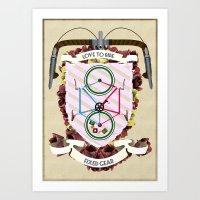 Love To Ride My Fixed Ge… Art Print