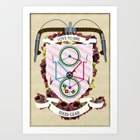 Love to Ride My Fixed Gear Bike Art Print