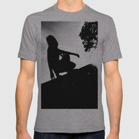 girl on a ledge Mens Fitted Tee Athletic Grey SMALL