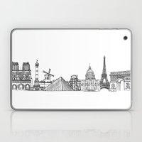 Paris Landmarks by the Downtown Doodler Laptop & iPad Skin