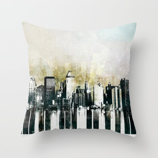 Music of The City Throw Pillow