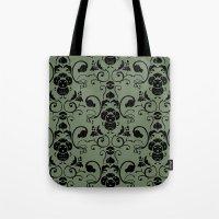 Grass Type Damask Tote Bag