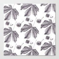 Floral pattern horse-chestnut Canvas Print