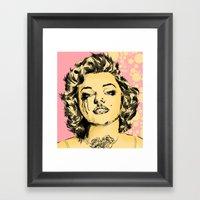 Mirror Monroe Framed Art Print