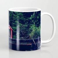 Red in Woods Mug