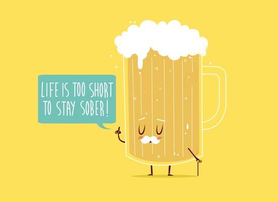 Life too short.. Art Print