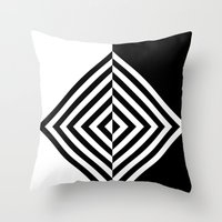 Black And White Concentr… Throw Pillow