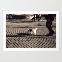 Out for a Walk Art Print