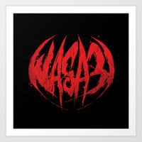 Bloody.Logo. Art Print