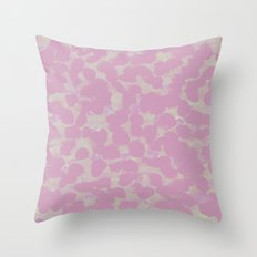 Mauve bloom Throw Pillow